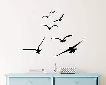 cd4b6d77b0 Flying Birds Wall Decals, Birds Vinyl Decals, Dorm Decals, Nursery Wall  Decals,