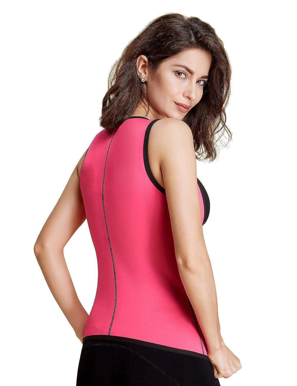 8fc4bc3a520dc Women s Sweat Latex Waist Trainer Corset Hourglass Vest Body Shaper Weight  Loss Fat Burner at Amazon Women s Clothing store