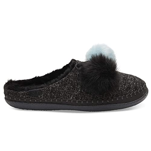 317cb8c987e Toms Womens Ivy Faux Fur Closed Toe Slip On Slippers