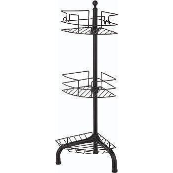 Amazon.com: OXO Good Grips Stainless Steel Corner Standing Shower ...