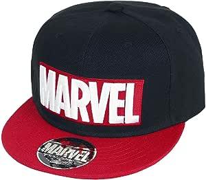 Marvel Logo Snapback Cap negro/rojo: Amazon.es: Juguetes y juegos