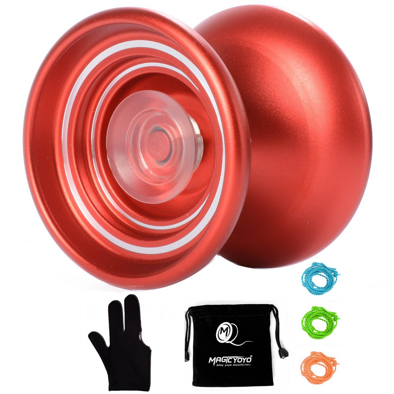 MAGICYOYO Responsive Aluminum YoYo K7 for Beginners -Colors Vary (Red)