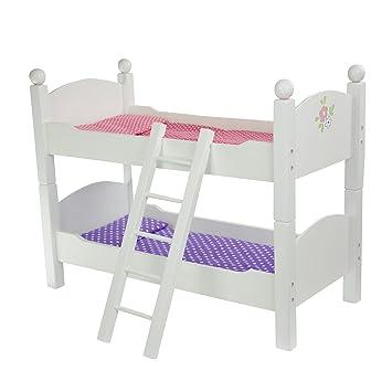 Amazon Com Olivia S Little World Princess Double Bunk Bed White
