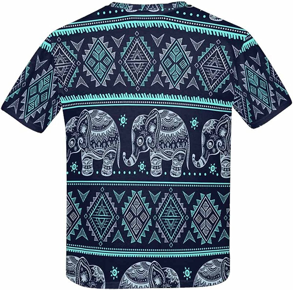 XS-XL INTERESTPRINT Ethnic Vintage Elephant Childs T-Shirt
