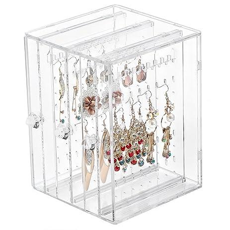 Amazoncom Weiai Acrylic Jewelry Storage Box Earring Display