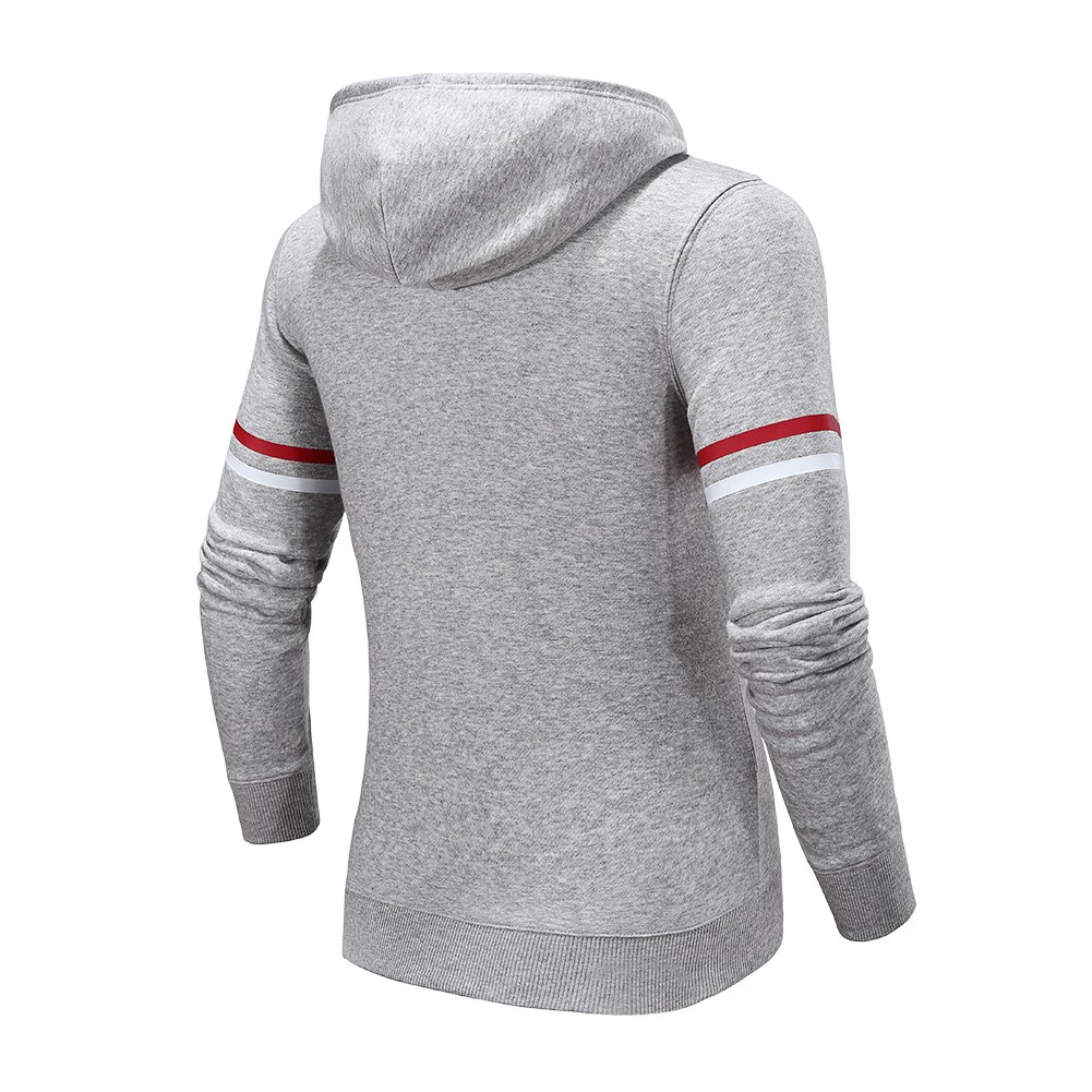 Camel Women's Knit Casual Pullover Hoodie Outdoor Hooded Sweatshirt(Gray L)