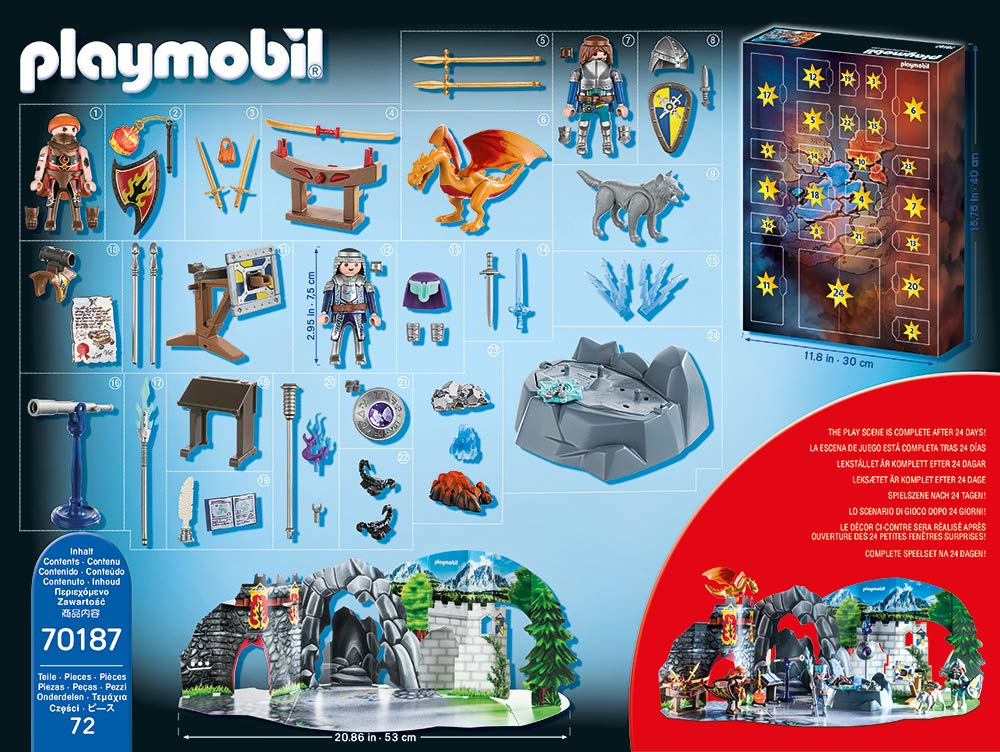 Inhalt Playmobil Adventskalender 70187