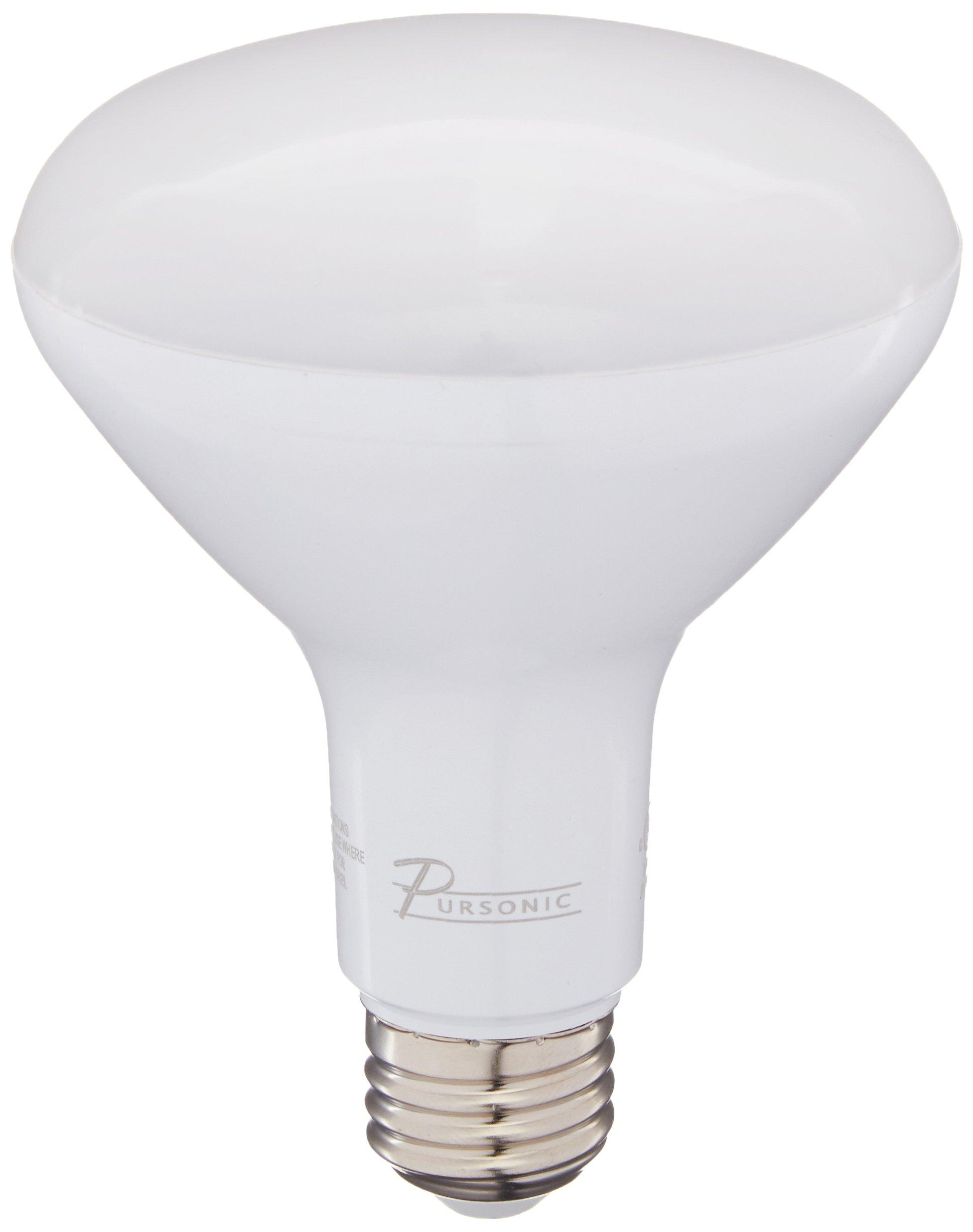 Pursonic DL 65 Watt Equivalent 10-Pack LED BR30 Light Bulbs, Non-Dimmable Daylight(5000K) BR30-10SP1DL