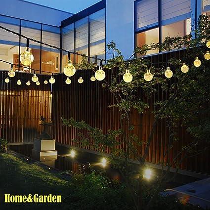 Amazon Com Nesix Solar String Lights With Clear Bulbs