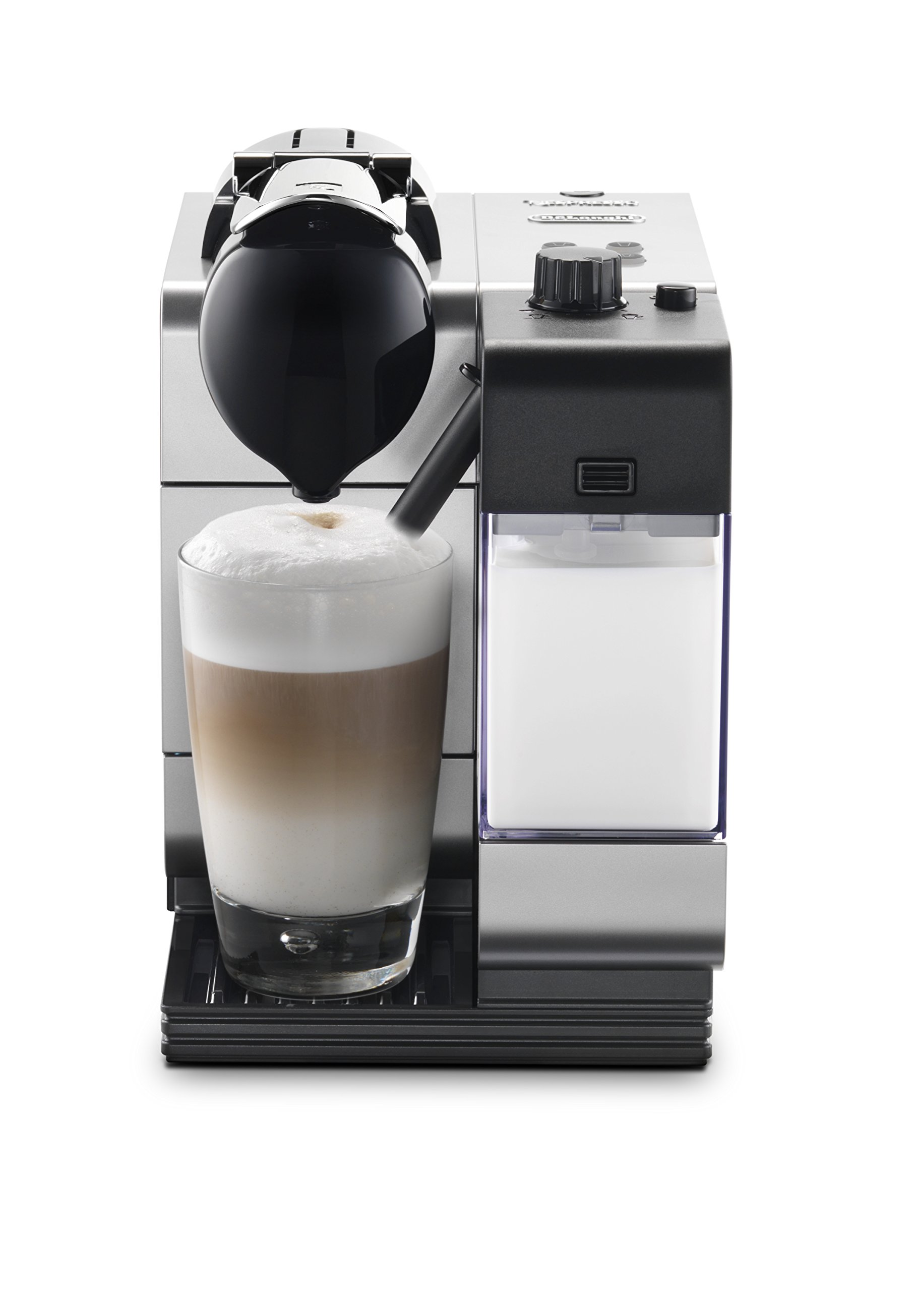 Nespresso Lattissima Plus Coffee and Espresso Machine by DeLonghi, Silver