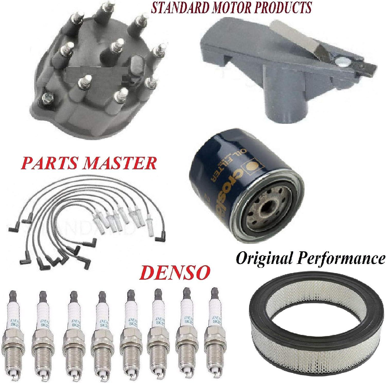 8USAUTO Tune Up Kit Air Oil Filters Cap Rotor Wire Spark Plug Fit DODGE RAM 3500 VAN V8; 5.2L; 5.9L 1999-2003