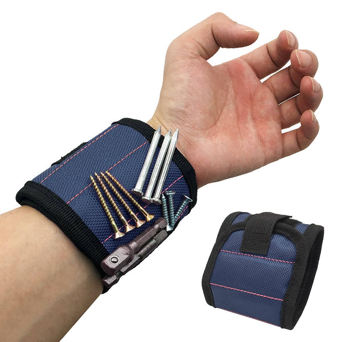 Magnetic Wristband Magnets Holding Screws Nails Drill Bits Gifts Gadgets Tools Gift For Men Him Dad DIY Handyman Electrician Husband Boyfriend Father Women