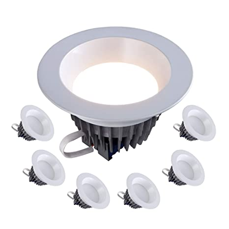 "6"" Inch LED Downlight 120V-277V; 18W=(120W Equivalent) 1500"