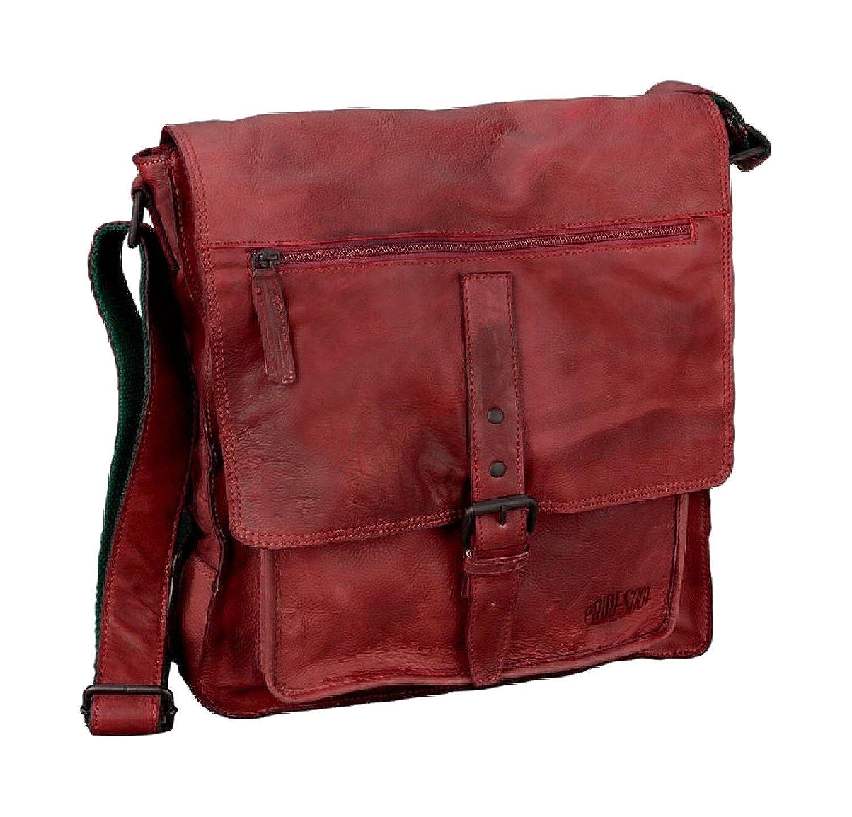 PRIDE & SOUL Pride & Soul Umhängetasche aus Leder, »Ethan« Hauptfach, Reißverschlussfächer, Einschubfach, Handytasche, Stiftschlaufen B00HNXUJWQ Messenger-Bags