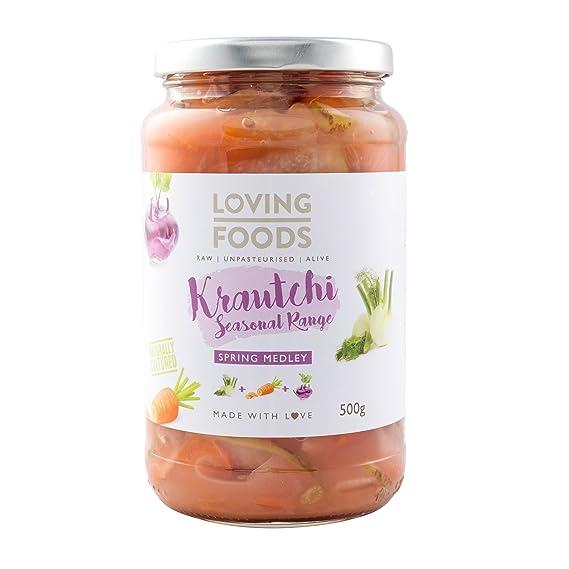 Loving Foods Orgánico Krautchi Mezcla de Primavera (500g ...