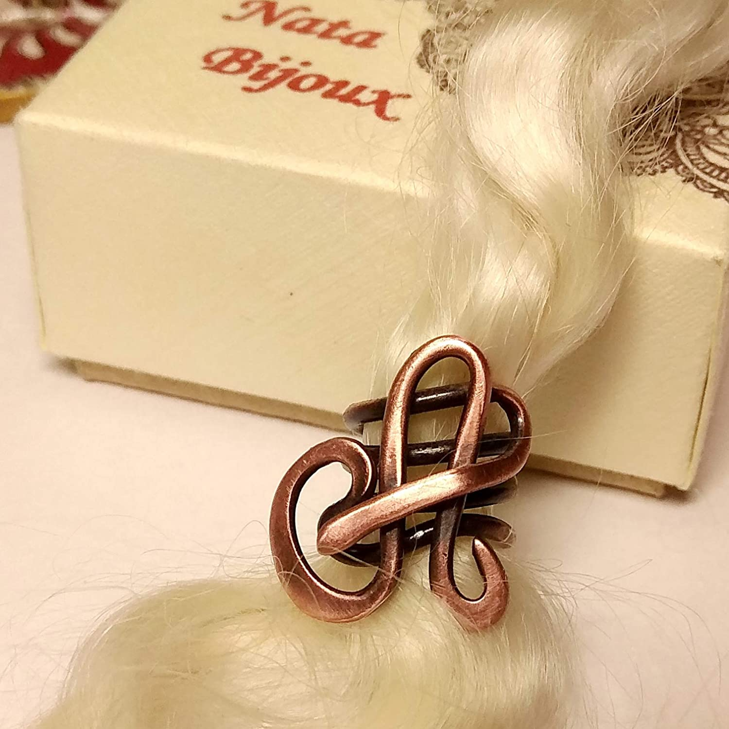 Monogram Dreadlock Accessory Letter Loc Jewelry Initial A Personalized Copper Bead for Dreads or Braids
