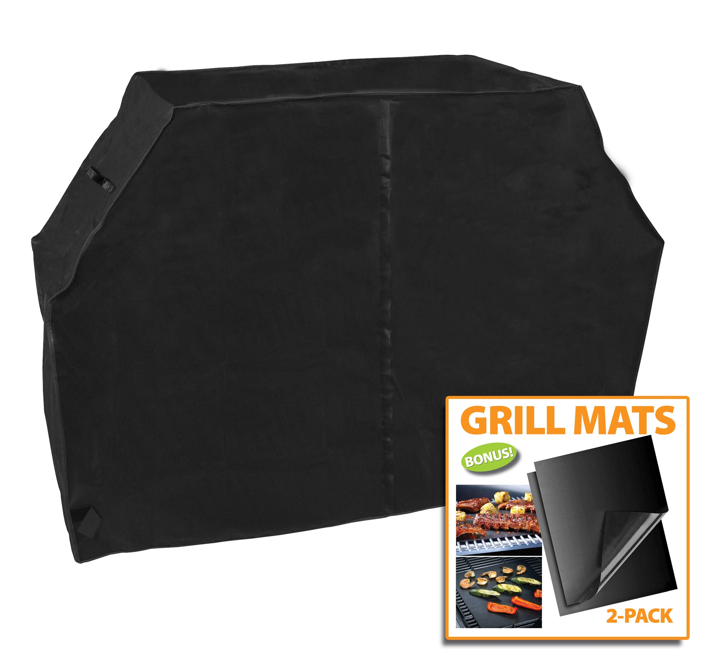 Outdoor Armor 79'' XL Grill Cover or Smoker Cover, Premium Heavy Duty PVC Coating for Waterproof, UV Protection, Bonus: 2 Grill Rack Mats Included by Outdoor Armor