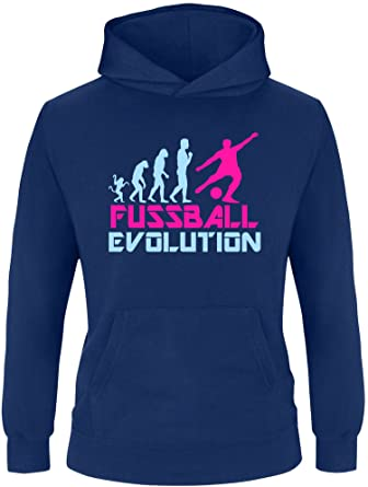 Ezyshirt Fussball Evolution Kinder Hoodie Amazon De