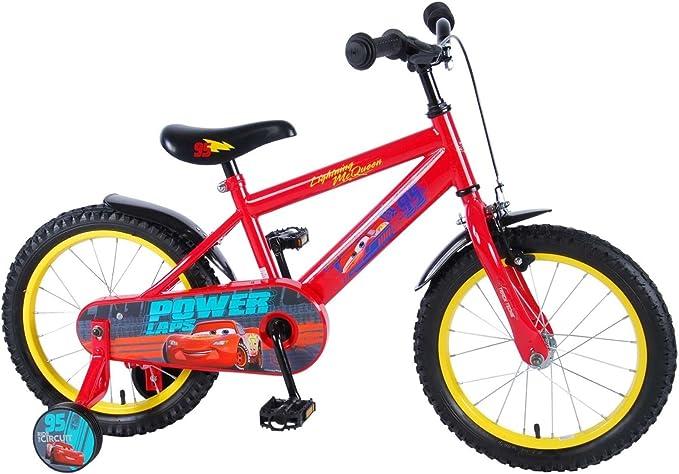 16 Pulgadas Bicicleta Disney Cars 3 bicicleta infantil ruedines Niños 81648 de CH: Amazon.es: Deportes y aire libre