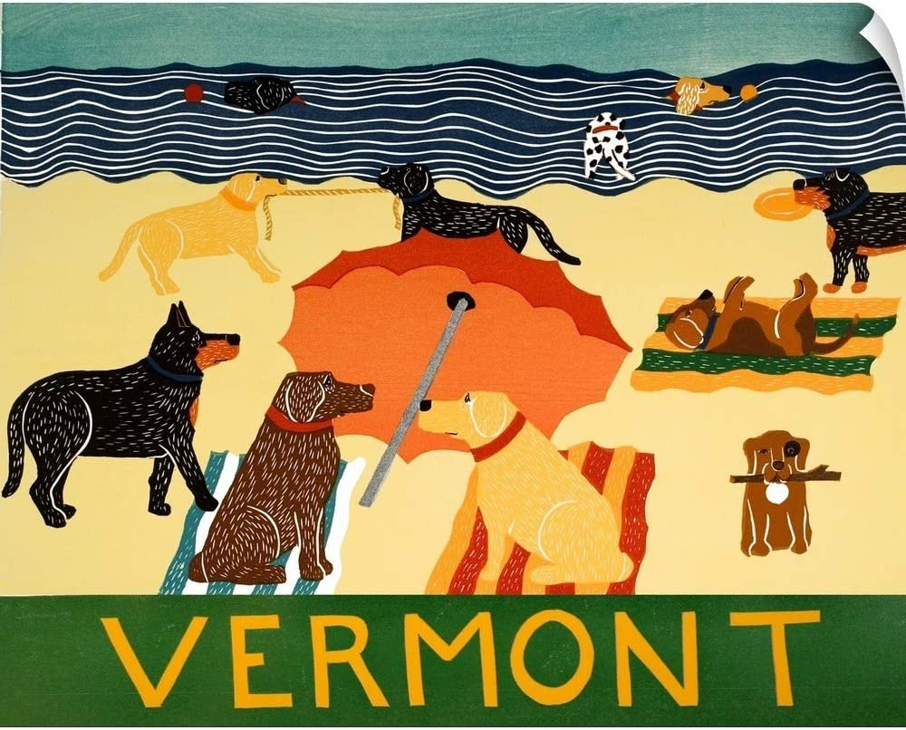 CANVAS ON DEMAND Ocean Ave Vermont Wall Decal, 24