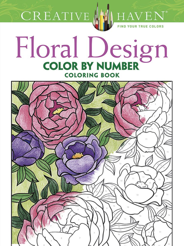 creative haven floral design color by number coloring book creative haven coloring books jessica mazurkiewicz 9780486793856 amazoncom books - Color By Number Books