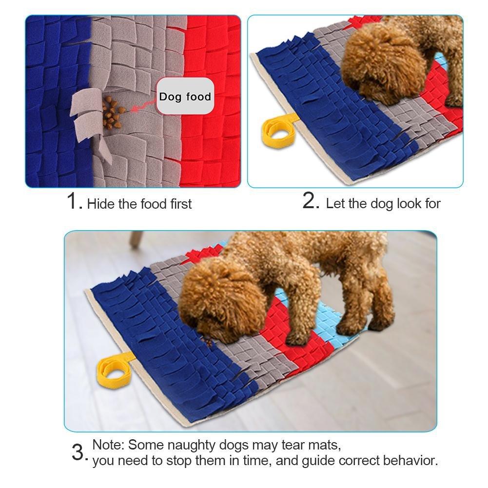 45*45cm Perro mascota Sniffing Mat Manta de entrenamiento lavable Alfombrilla de alimentaci/ón Pad Perros Juguetes Pet Mat Juguete interactivo Juguete interactivo Alfombrillas de terreno Training Mat