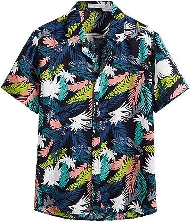 Sylar Camisa Hawaiana Hombre Camisas De Hombre Manga Corta Verano Hombres Impresión Básico Polo con Botones Camisa Hawaiana Hombre Camiseta Fruta Floral Estampado Formales Tops: Amazon.es: Ropa y accesorios
