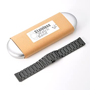 KR de Net 22 mm Acero Inoxidable Metal Reloj de pulsera pulsera ...
