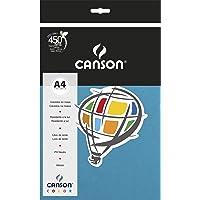 Papel Colorido A4 180g/m², Canson, 66661201, Azul Royal, 10 Folhas