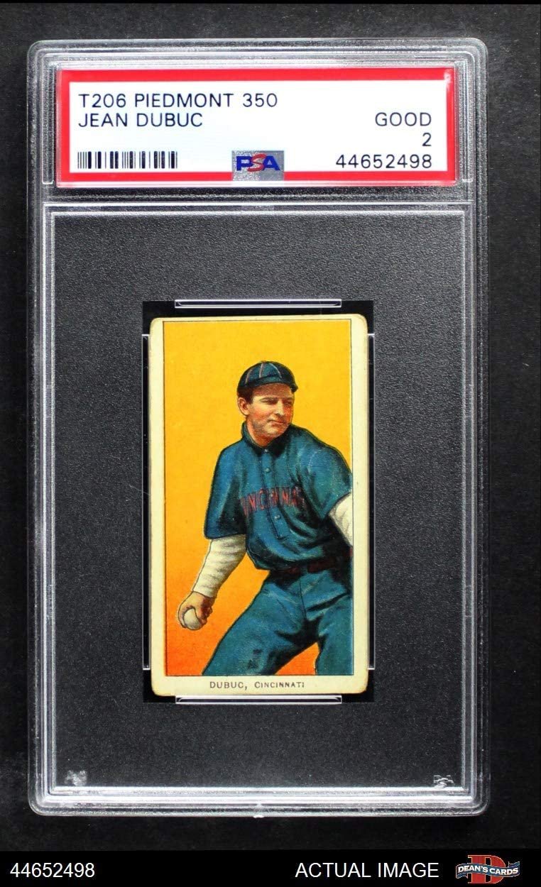 1909 T206 Jean Dubuc Cincinnati Reds (Baseball Card) PSA 2 - GOOD Reds 715FM10JJKLSL1250_