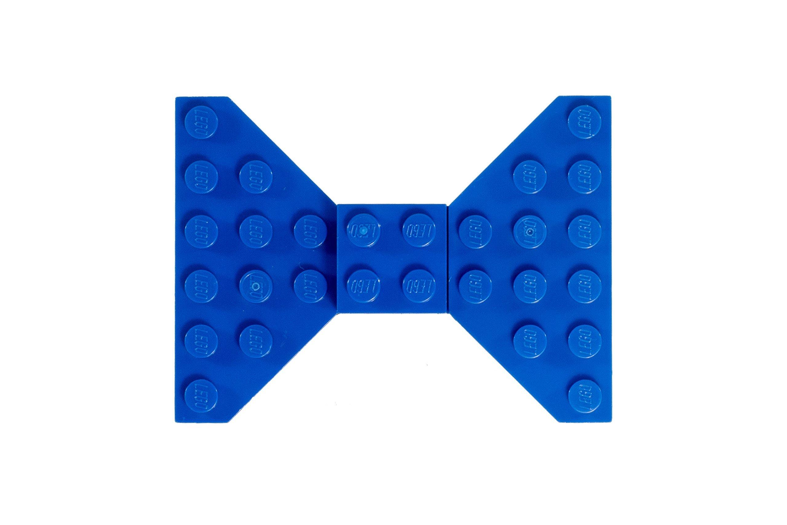 Custom Blue LEGO Hair Bow / Clip by Kurly Kates