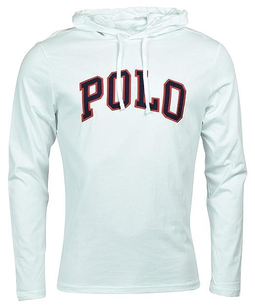 reputable site 0a6b9 4002c Polo Ralph Lauren Mens Hooded T-Shirt Jersey Knit Hoodie Tee Shirt