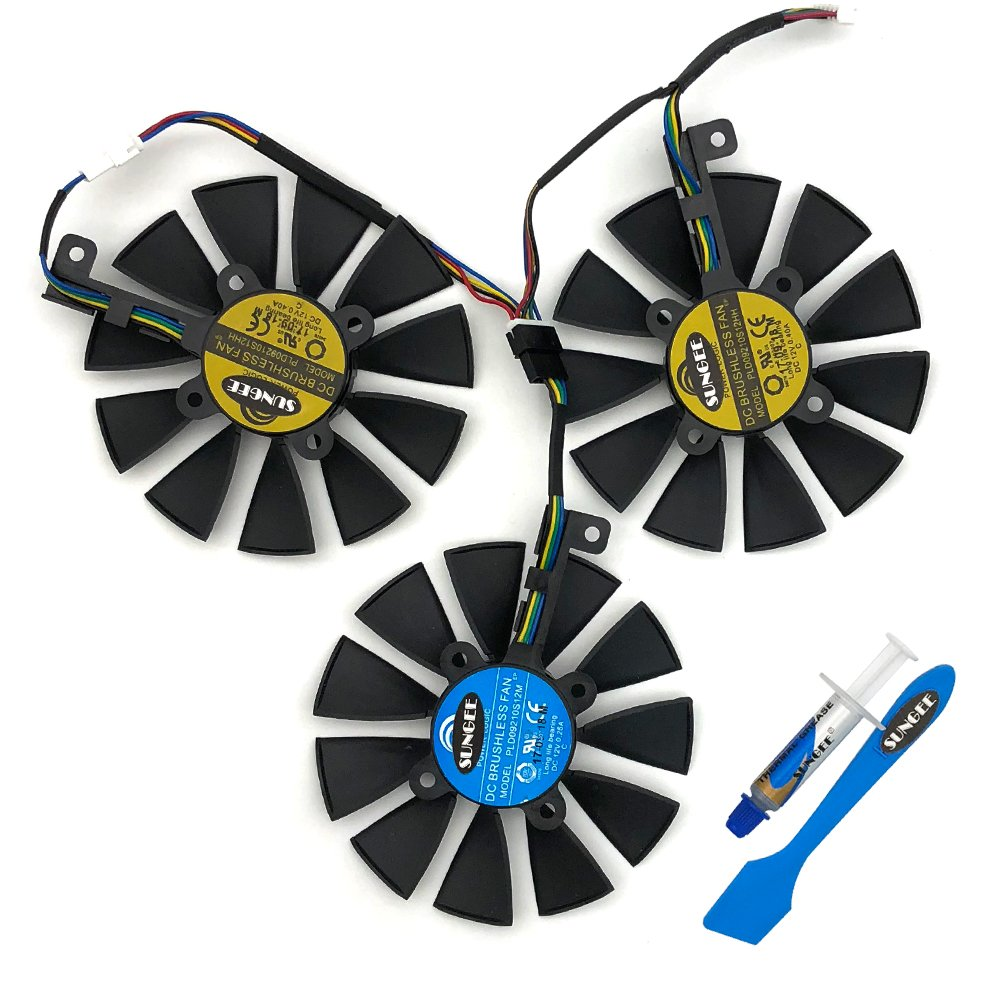88MM PLD09210S12M And PLD09210S12HH Graphics Card For ASUS Strix GTX 1060 OC 1070 1070Ti 1080 1080Ti RX 480 580 VEGA 64 VEGA 56 Video Card Fan by Z.N.Z