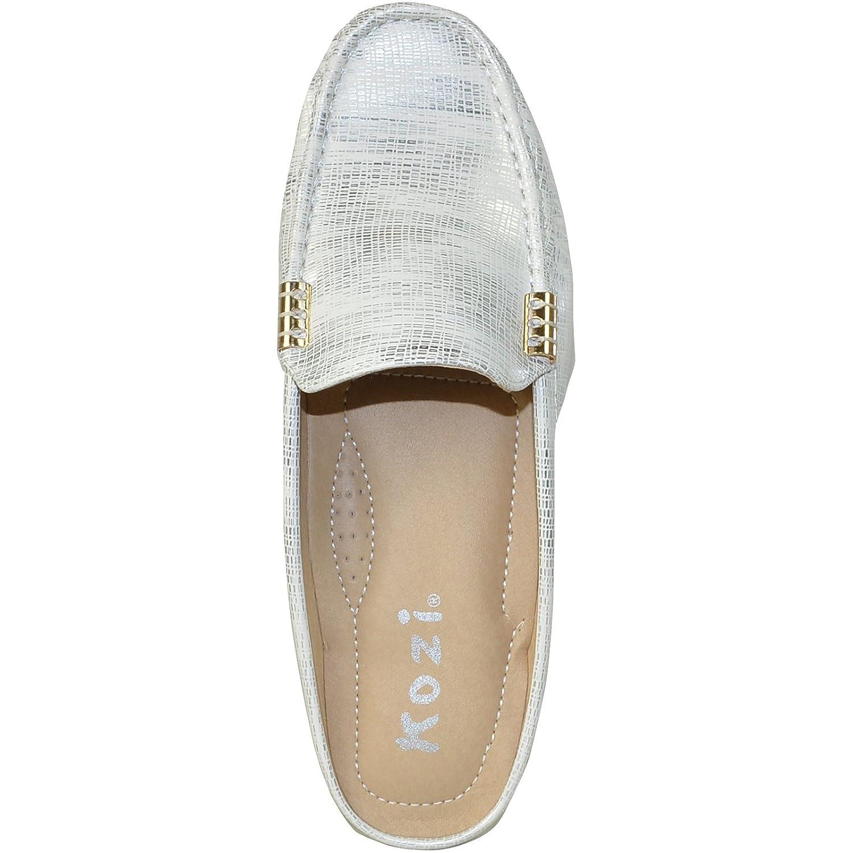 KOZI Women Casual Shoe TH8250 Fashion Flat Comfort Loafer Silver