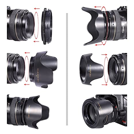 Neewer® 58 mm Variable flor tipo parasol para Canon Rebel (T5i T4i ...