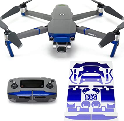 Wrapgrade Poly Skin Compatible with DJI Mavic 2 Stratosphere Blue Remote Controller
