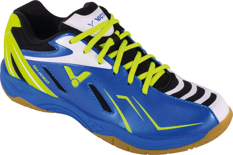 Scarpe da Badminton Uomo Blu Blu//Verde Victor