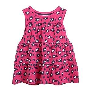 Rockin' Baby Big Girls Pink Animal Print Cotton Jersey Hannah Dress 10