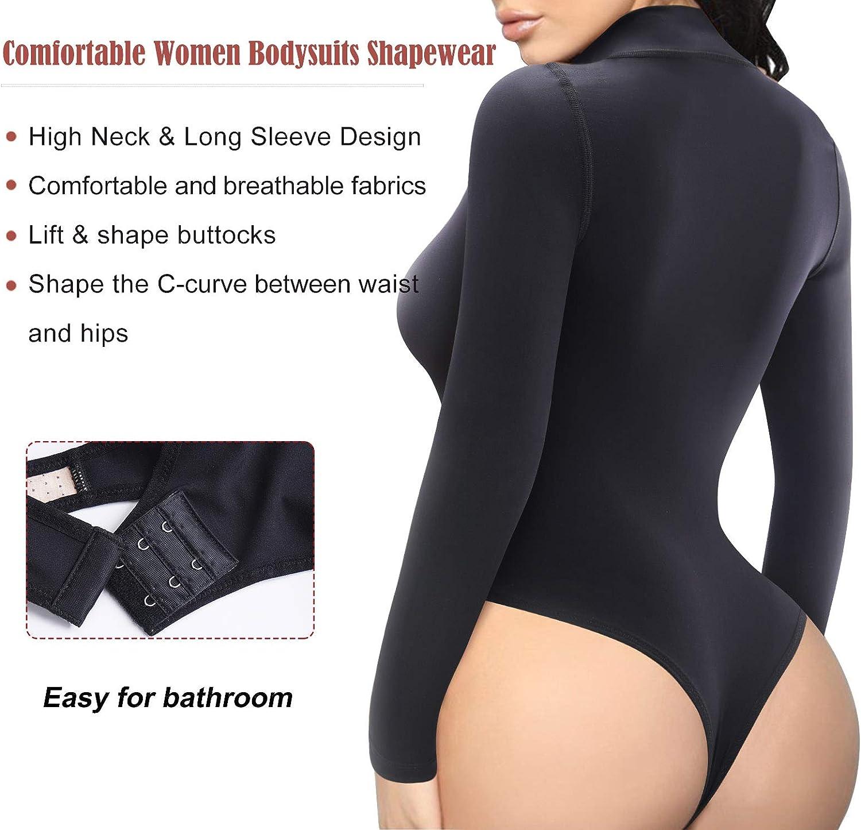 aihihe Short Sleeve Rompers Women Mock Neck Bodysuit Bodycon Tank Top Club Romper Short Jumpsuits