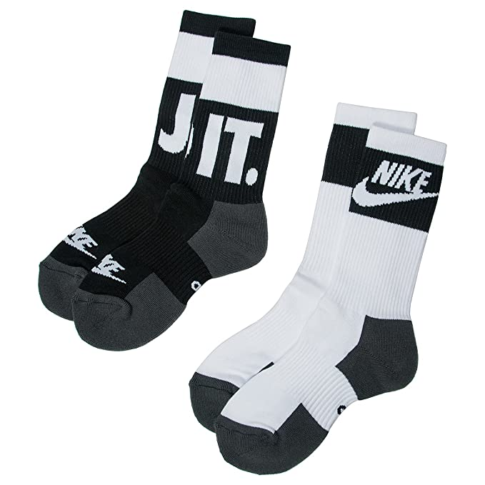 Calcetines Nike - Sportswear Crew (2 Pair) negro/blanco ...