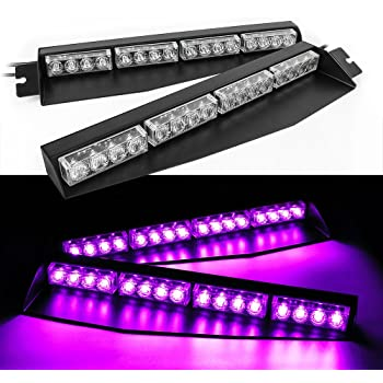 Amazon Com Purple And White Funeral Led Lights Windsheild