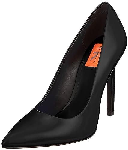1ff18b4ced6dd Calvin Klein Jeans Women's Paige Patent Closed-Toe Pumps: Amazon.co ...