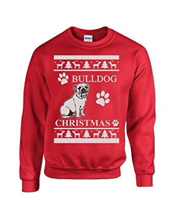 ugly christmas sweater for bulldog dog lover xmas gift adult sweatshirt s red