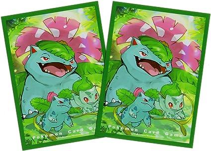 Pokemon center JAPAN 64 Sleeves Bulbasaur Venusaur Card Deck Shields