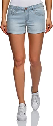 oodji Ultra Mujer Pantalones Cortos Vaqueros Básicos, Azul, XXS: Amazon.es: Ropa y accesorios