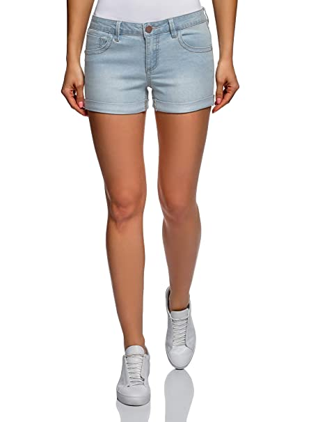 oodji Ultra Womens Basic Denim Shorts