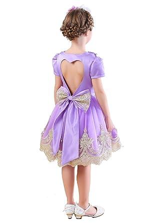 5c6161237 Amazon.com  Happy Rose Vintage Lace Satin Party Wedding Dress Flower ...