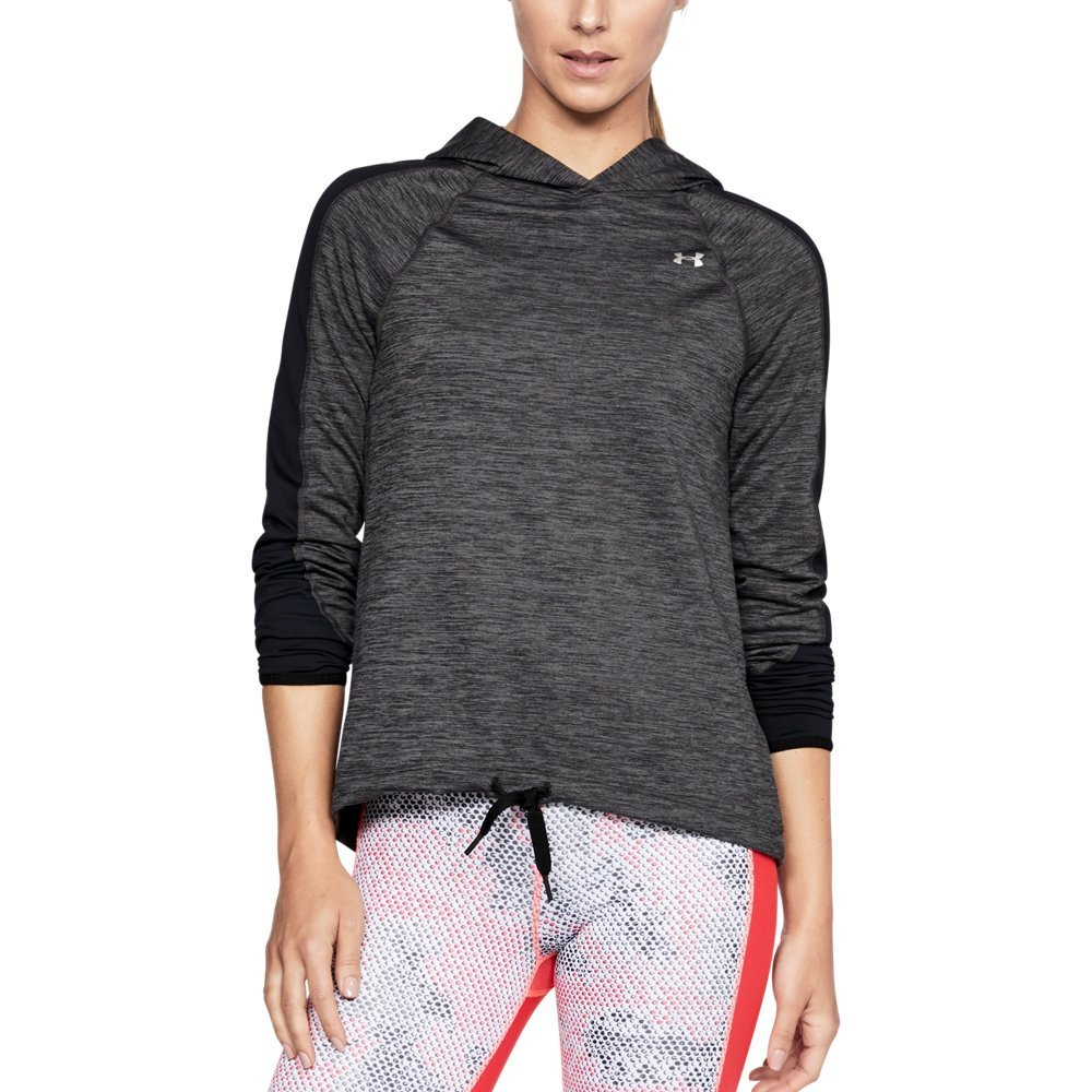 Under Armour Women's ColdGear Armour Pullover, Charcoal Full Heather (019)/Metallic Silver, Small