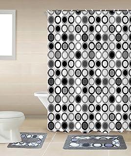 Amazon Com 15 Piece Madrid Bathroom Set Bath Rugs Shower Curtain
