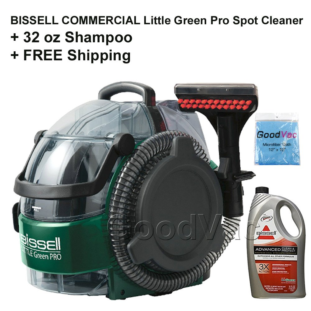 Bissell Commercial Little Green Pro Commercial Spot Cleaner BGSS1481 with 32oz Advance Formula Carpet Cleaning Shampoo and 1 Year Commercial Warranty